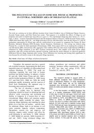 the influence of tillage on some soil physical properties in central ...
