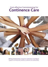 Cost-effective commissioning for continence care - All Party ...