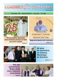 COMUNICAÇÃO DIOCESANA - Diocese de Erexim