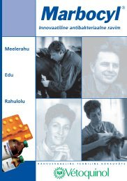 Marbocyl'i ja amoksitsilliin/klavulaanhappe - Zoovetvaru
