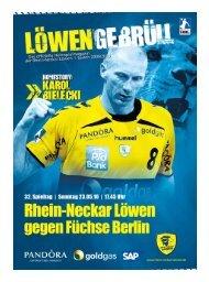 (Saison 2009/2010): Füchse Berlin - Rhein-Neckar Löwen