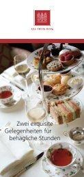 Zwei exquisite Gelegenheiten für behagliche Stunden - Grand Hotel ...