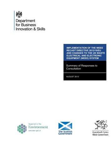Implementation of the WEEE Recast Directive 2012/19/EU ... - Gov.uk