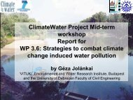 WP3 Water Pollution Control Strategies - Climatewater