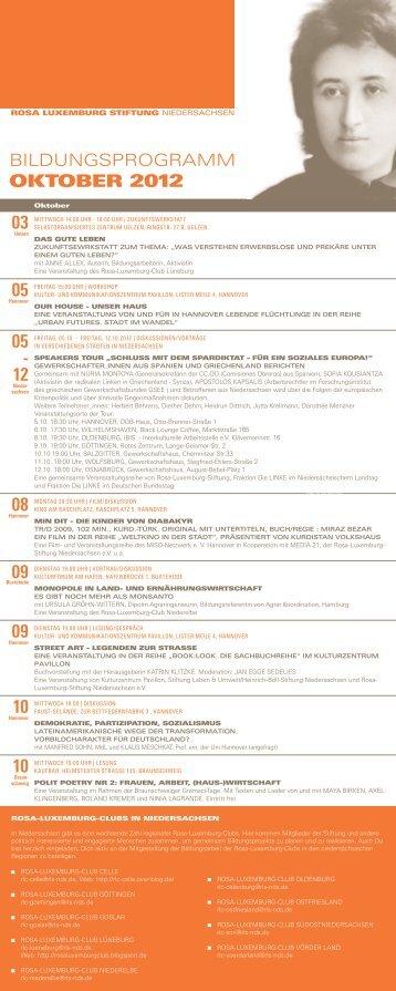 OKTOBER 2012 - Rosa Luxemburg Stiftung Niedersachsen