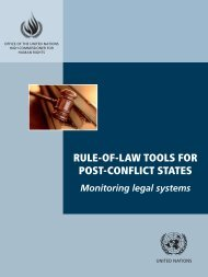 Rule-of-Law Tools for Post-Conflict States: Monitoring Legal System