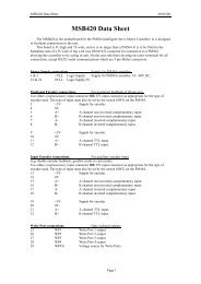 MSB420 Data Sheet - Mclennan Servo Supplies Ltd.