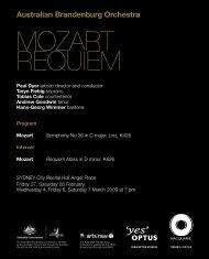 MOZART REQUIEM - Australian Brandenburg Orchestra