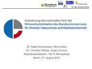 Evaluierung des nationalen Teils der ... - Öko-Institut eV