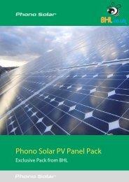 Phono Solar PV Panel Pack - BHL.co.uk