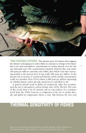 theRmal SenSitivitY OF FiSheS - University of Wisconsin Sea Grant ...