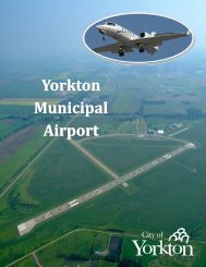 Yorkton Municipal Airport Brochure - April 2012 - City of Yorkton