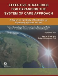Effective Strategies for Expanding the System of Care Approach
