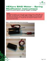 VEXpro BAG Motor – Spring Modification Instructions - VEX Robotics