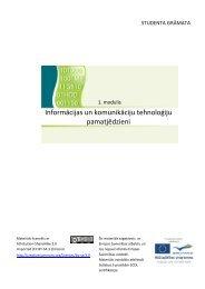 1. modulis Informācijas un komunikāciju tehnoloģiju pamatjēdzieni