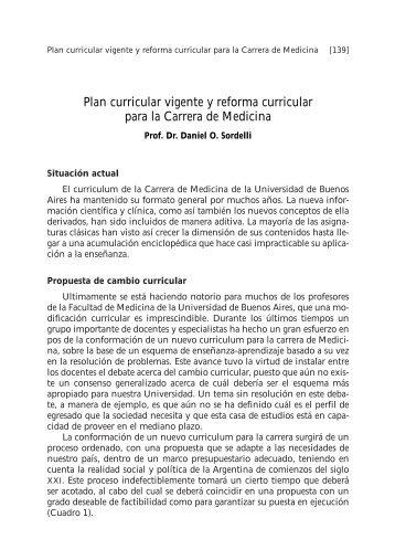 Plan curricular vigente y reforma curricular para la Carrera de ... - FMV
