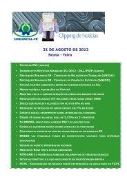 31 DE AGOSTO DE 2012 Sexta - feira - Sindimetal/PR