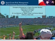 Sport Event Risk Management - Readiness and Emergency ...
