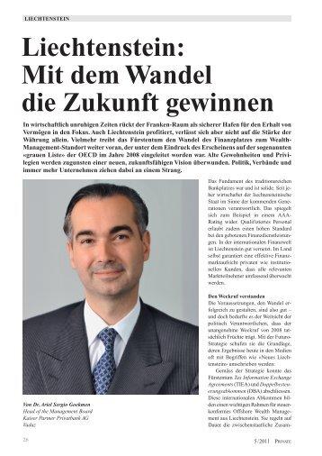 Liechtenstein: Mit dem Wandel die Zukunft gewinnen
