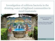 Investigation of coliform bacteria in the drinking water of highland ...