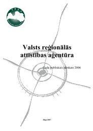 Valsts reģionālās attīstības aģentūras 2006.gada publiskais pārskats