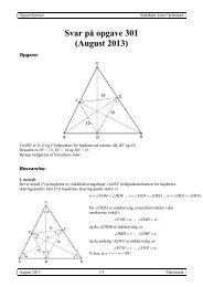 Svar på opgave 301 (August 2013) - Uvmat