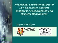 Availability and Potential Use of Low Resolution ... - Fp Ucalgary