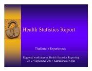 Health Statistics Report - WHO Thailand Digital Repository