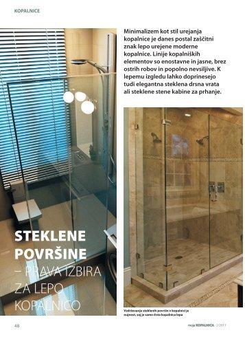 Steklene površine - prava izbira za lepo kopalnico