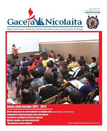 Inició ciclo escolar 2012 - Coordinación de la Investigación Científica