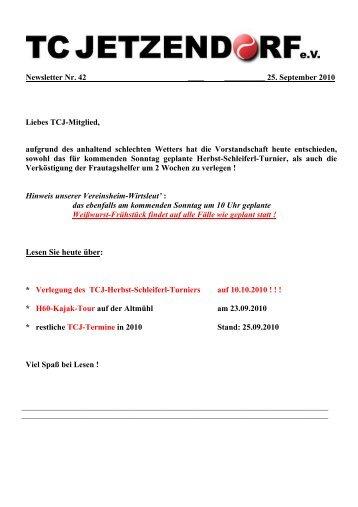 Ebenfalls am 10.10.2010 - TC Jetzendorf