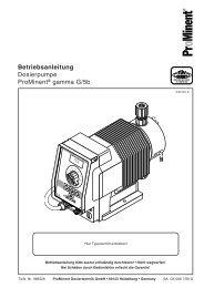 Betriebsanleitung Dosierpumpe ProMinent® gamma G/5b