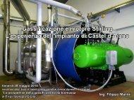 Gassificazione e motore Stirling, l'esperienza dell'impianto di Castel ...