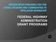 FHWA Grant Programs Supporting Livable Communities - NADO.org