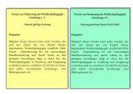 Verein zur Förderung der Waldorfpädagogik Lüneburg e. V. Aktuell ...