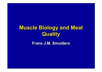 Muscle Biology and Meat Quality