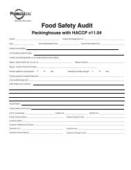 PrimusLabs com Facility Audit Paperwork Checklist Paperwork Listing