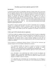 1 Procédures pour devenir registraire agréé de l'ACEI ... - CIRA