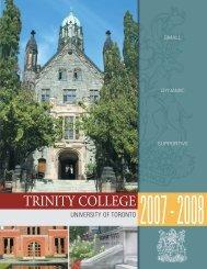 OLLEGE TRINITY COLLEGE - Trinity College - University of Toronto