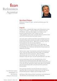 Bernhard Peters - Econ Referenten-Agentur