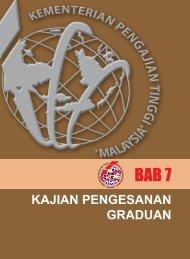 bab 7 - kajian pengesanan graduan - Kementerian Pengajian Tinggi