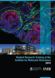 2014 student research training handbook - Institute for Molecular ...