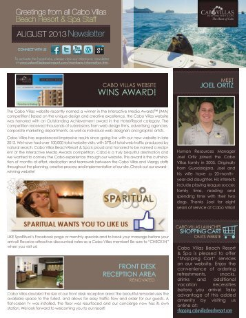 WINS AWARD! - Cabo Villas Beach Resort and Spa