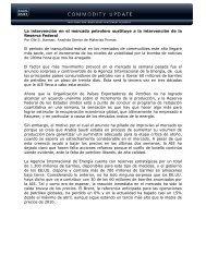 27/06/2011 Informe semanal de materias primas ... - Sala de Inversión
