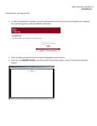 Rider University, Help Desk RosettaStone 1 Rosetta Stone ...