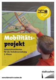 Unterrichtseinheit 3.Klasse (0.9 MB PDF) - Fahrrad in Aachen