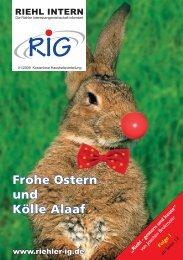 Frohe Ostern und Kölle Alaaf - Riehler Interessengemeinschaft eV