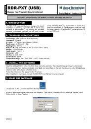 RDR-PXT (USB) - Visonic Technologies