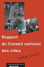 Rapport du Conseil national des villes 1998 / 2001 - Délégation ...