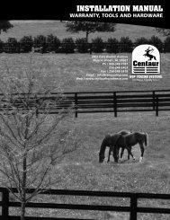 INSTALLATION MANUAL - Centaur HTP Northeast
